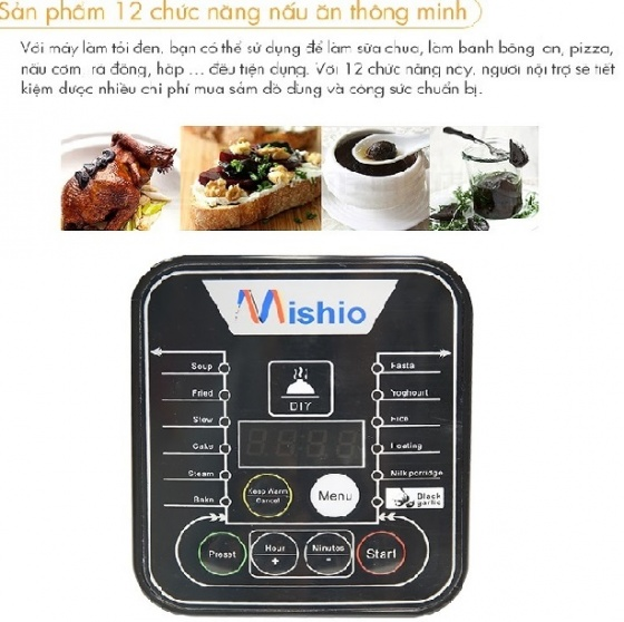 Máy làm tỏi chuyên dụng Mishio MK10 - Tặng nồi cơm 1,2L và vỉ 2 tầng nhôm chống rỉ sét