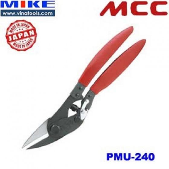 PMU-240 Kéo cắt tôn 9 inch, kéo cắt thép tấm 240mm MCC Japan