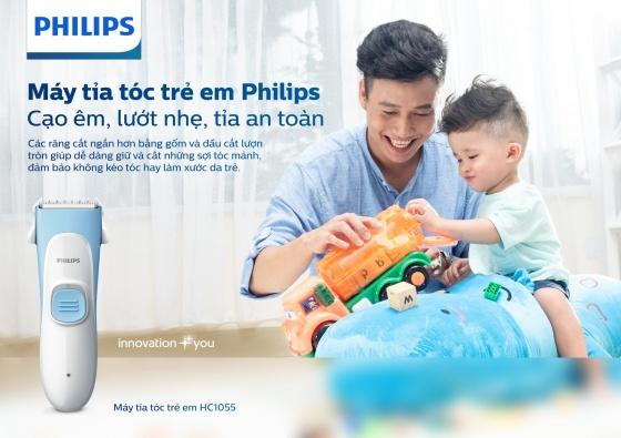 Tông đơ cắt tóc cho bé Philips HC1055 hãng phân phối