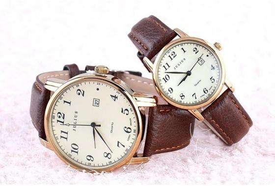 Đồng hồ nam JA-508MC Julius Hàn Quốc dây da (nâu vàng)