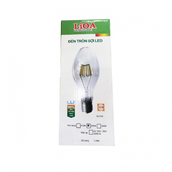 Bóng đèn sợi Led LiOA DSLED/8WAC220/TR ánh sáng đèn màu trắng
