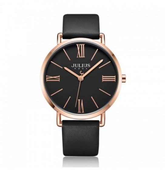 Đồng hồ nam JA-1107ME Julius Hàn Quốc dây da (đen)