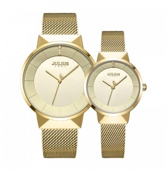 Đồng hồ cặp JA-1104 Julius Hàn Quốc dây thép (nhiều màu)