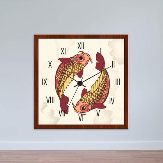 Đồng hồ treo tường cung Song Ngư | Đồng hồ giá rẻ WC051