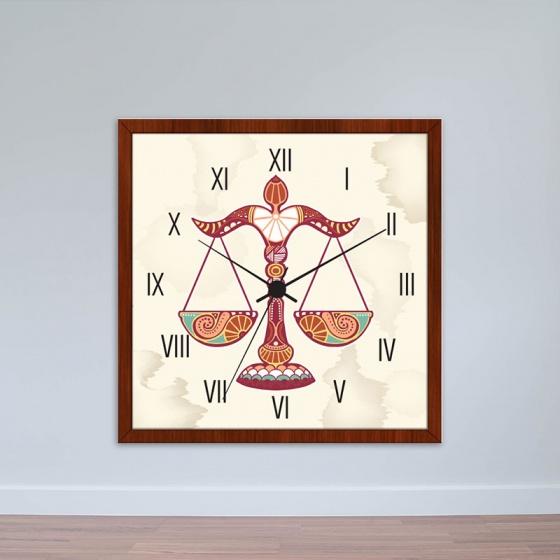 Đồng hồ treo tường cung Thiên Bình | Đồng hồ tiện ích giá rẻ WC052