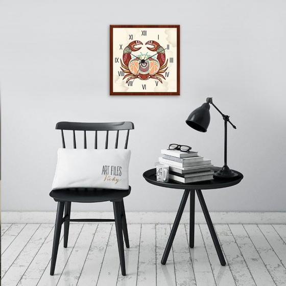 Đồng hồ treo tường cung Cự Giải | Đồng hồ độc giá rẻ WC053