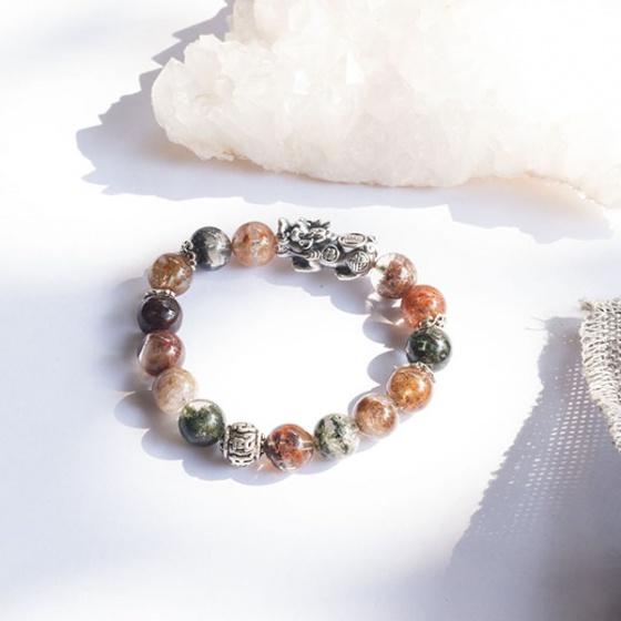 Vòng thạch anh ưu linh phối tỳ hưu bạc Ngọc Quý Gemstones