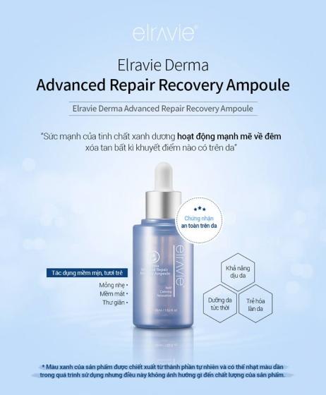 Ampoule phục hồi tổn thương Elravie Advanced Repair Recovery 45ml