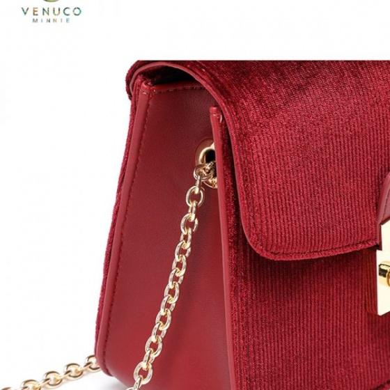 Túi hộp Flora Venuco Madrid S402 nhung (3 màu)