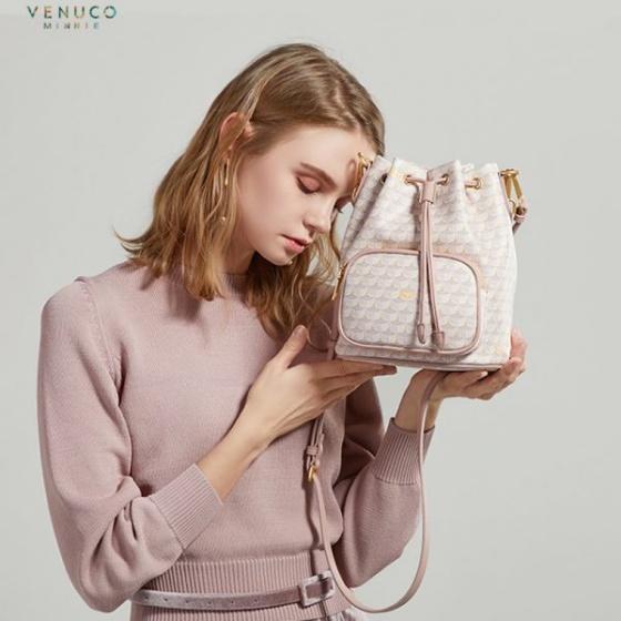 Túi Bucket VNC Venuco Madrid F39 màu hồng