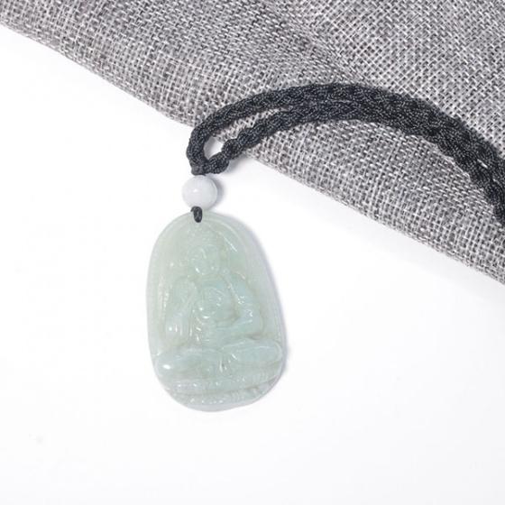 Phật bản mệnh a di đà cẩm thạch phỉ thúy 5x3cm