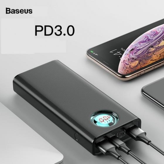 Pin dự phòng sạc nhanh QC3.0 hai chiều Baseus BS-20KP203- 20.000 mAh hỗ trợ chuẩn PD