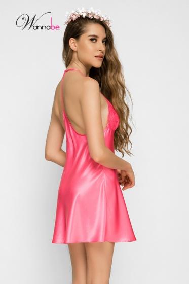 Đầm ngủ phi lụa Wannabe DN583 cutout lưng dạng áo 2 dây gợi cảm (Sen)