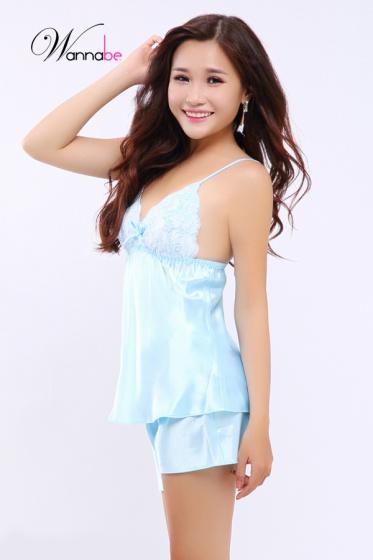 Đồ bộ mặc nhà Wannabe BS89R, bộ sọt nữ tính quyến rũ (Biển)