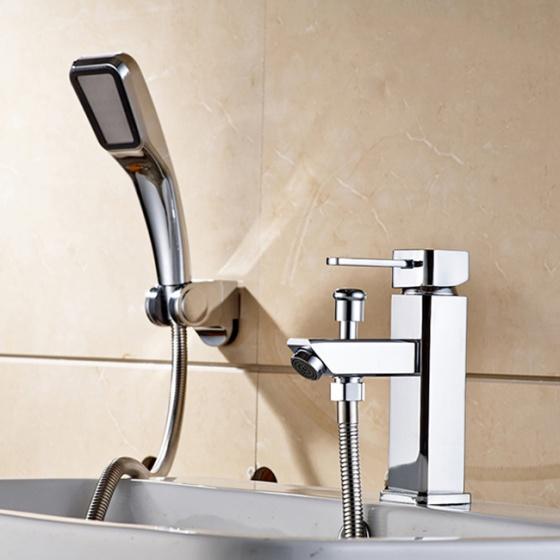 Bộ vòi chậu lavabo kết hợp sen tắm nóng lạnh Zento ZT 2040