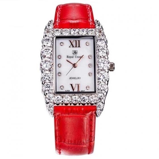 Đồng hồ nữ chính hãng Royal Crown 6111 dây da đỏ