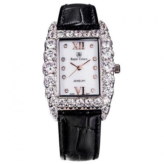 Đồng hồ nữ chính hãng Royal Crown 6111 dây da đen