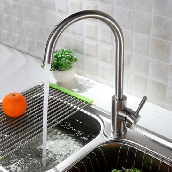 Vòi rửa bát nóng lạnh inox304 Zento SUS5563