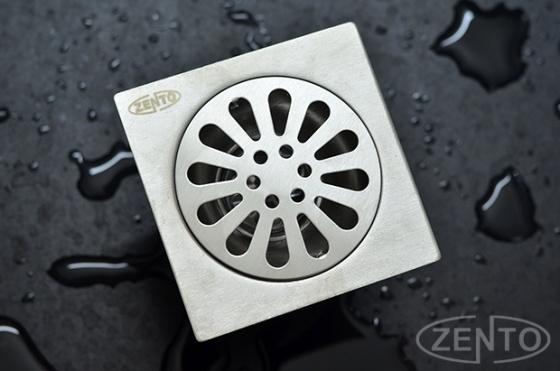 Phễu thoát sàn chống mùi hôi inox Zento TS102-L (100x100mm)