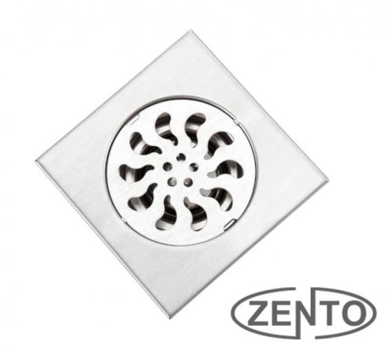 Phễu thoát sàn inox Zento TS105 (100x100mm)