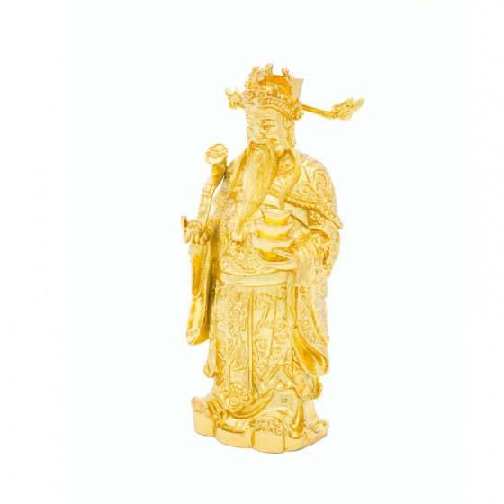 Tượng ông Thần Tài phong thuỷ mạ vàng 24K - Quà tặng cao cấp