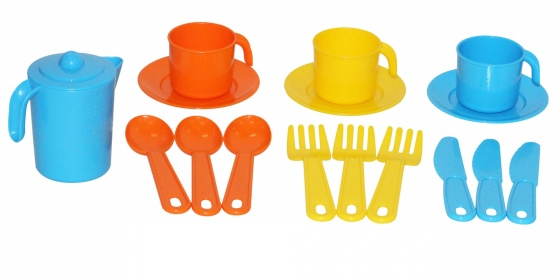 Bộ đồ chơi pha trà cho 3 người Anyuta Polesie Toys