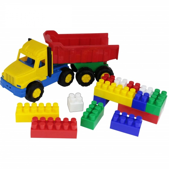 Xe tải kèm bộ lắp ghép 17 chi tiết đồ chơi Polesie Toys