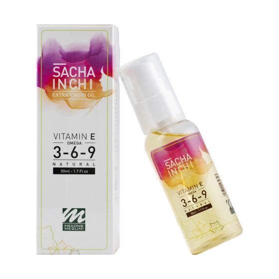 Dầu sacha inchi tinh khiết ép lạnh (Extra Virgin Sacha Inchi Oil - Mekông Megumi) - 50ml