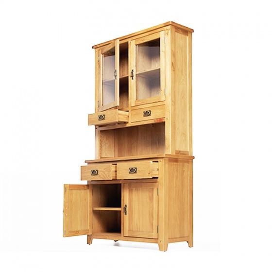 Tủ bếp 2 cánh Rustic gỗ sồi - IBIE