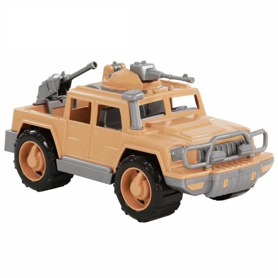 Xe Jeep quân đội hộ tống đoàn trang bị súng máy đồ chơi Polesie Toys