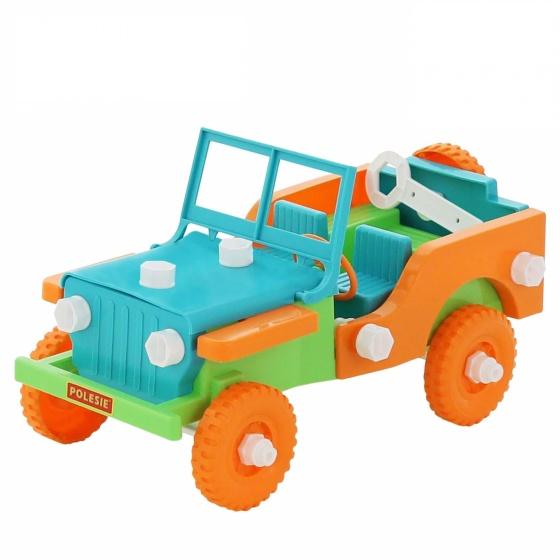 Bộ đồ chơi lắp ghép xe Jeep Retro 42 chi tiết Cavallino Toys