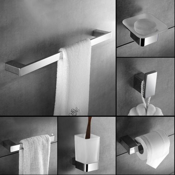 Bộ 6 phụ kiện phòng tắm inox 304 Diamond series HC 5860