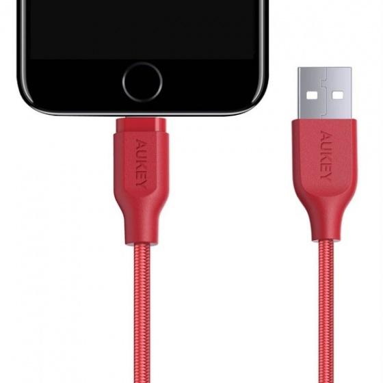 Cáp sạc iphone lightning Aukey CB-AL2 MFI 2m ( đỏ)