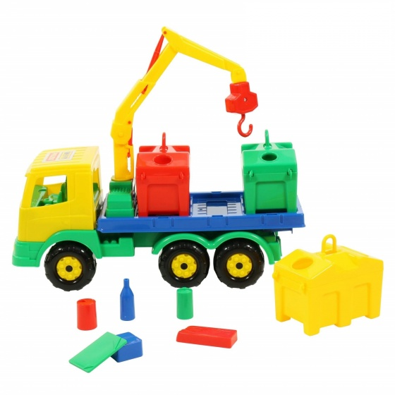 Xe cẩu xử lý rác môi trường thùng rời đồ chơi Polesie Toys