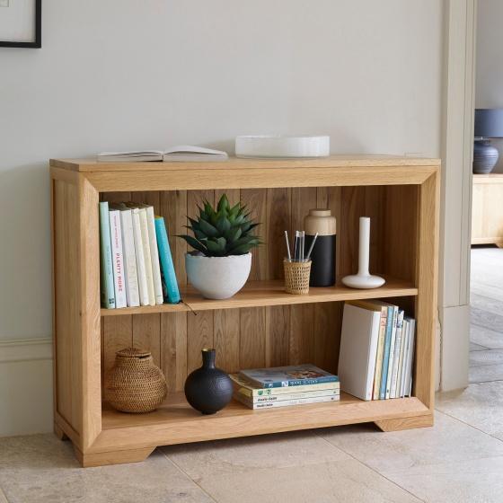 Tủ kệ sách thấp Camber gỗ sồi - Cozino