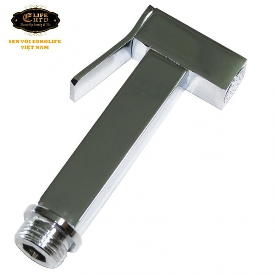 Bộ vòi xịt vệ sinh bằng đồng, Eurolife EL-X03 (trắng bạc)