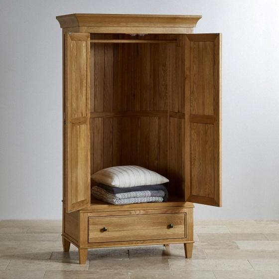 Tủ quần áo Holy 2 cánh 1 ngăn kéo gỗ sồi 1m - Cozino