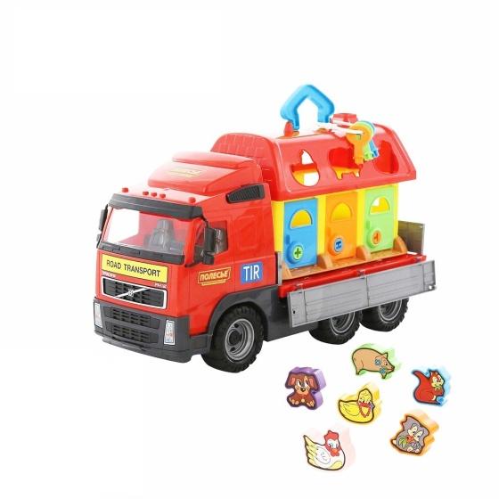 Xe tải Volvo chở ngôi nhà thú cưng đồ chơi Polesie Toys