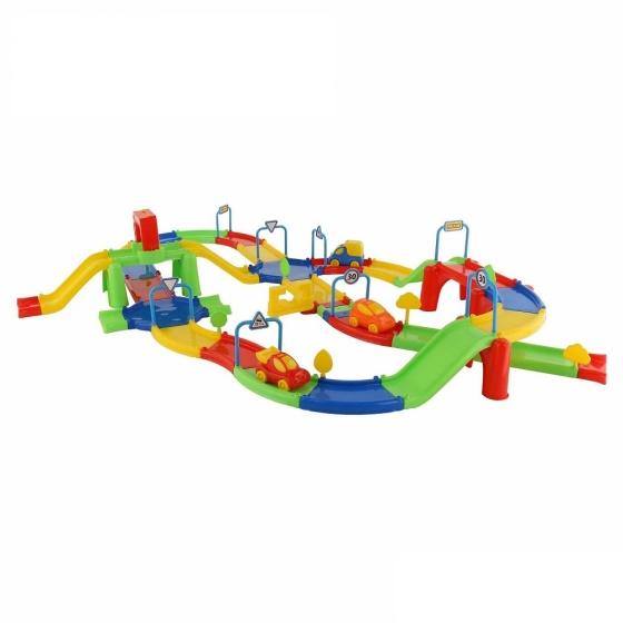 Bộ mô hình đồ chơi đường đua Số 3 Wader Quality Toys