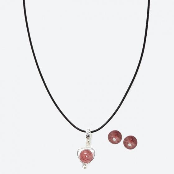Bộ bông tai & mặt dây chuyền thạch anh ưu linh Ngọc Quý Gemstones