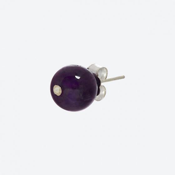 Bộ trang sức phong thủy bông tai & mặt dây chuyền đá thạch anh tím Ngọc Quý Gemstones