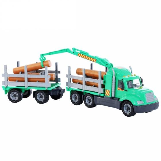 Xe tải rơ móoc Mike chở gỗ đồ chơi Polesie Toys