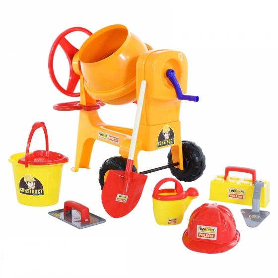 Bộ đồ chơi dụng cụ xây dựng số 7 và máy trộn xi măng Wader Quality Toys
