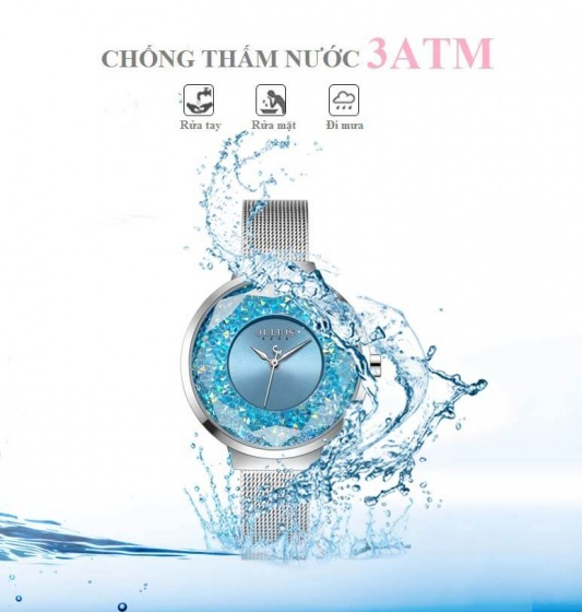 Đồng hồ nữ JA-1111 Julius Hàn Quốc dây thép (5 màu)