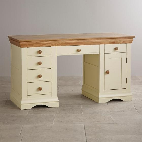 Bàn làm việc Canary có 2 tủ hông gỗ sồi  - Cozino