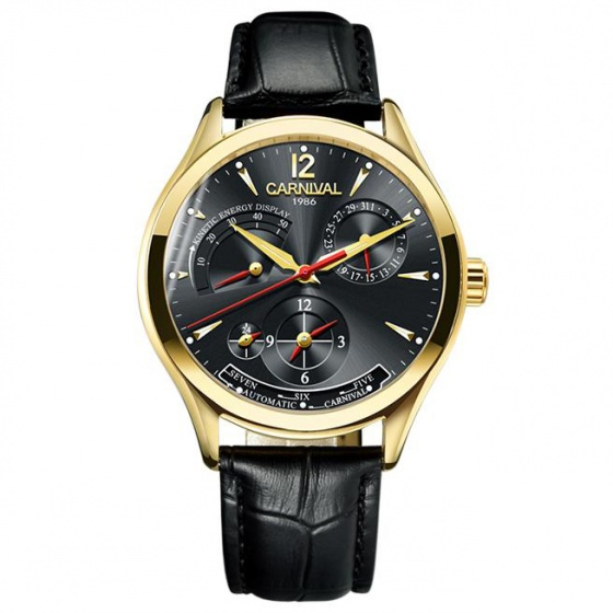 Đồng hồ nam dây da Carnival G76201.102.332