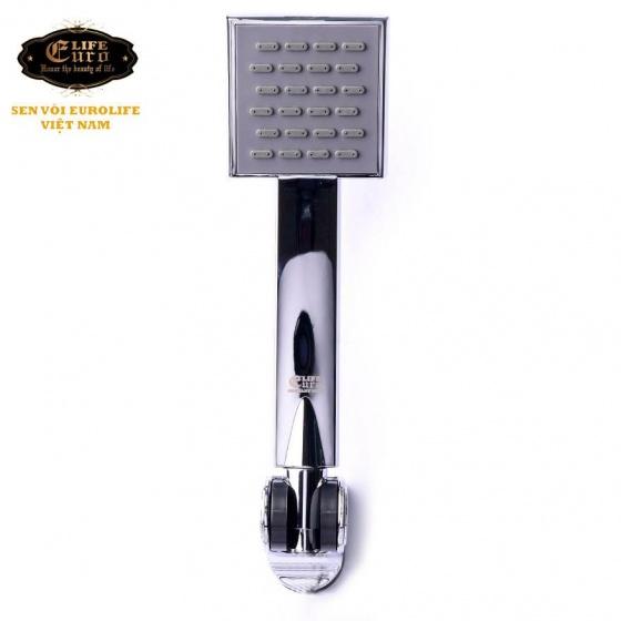 Bộ tay dây sen 1 chế độ phun nước Eurolife EL-104SH (trắng bạc)