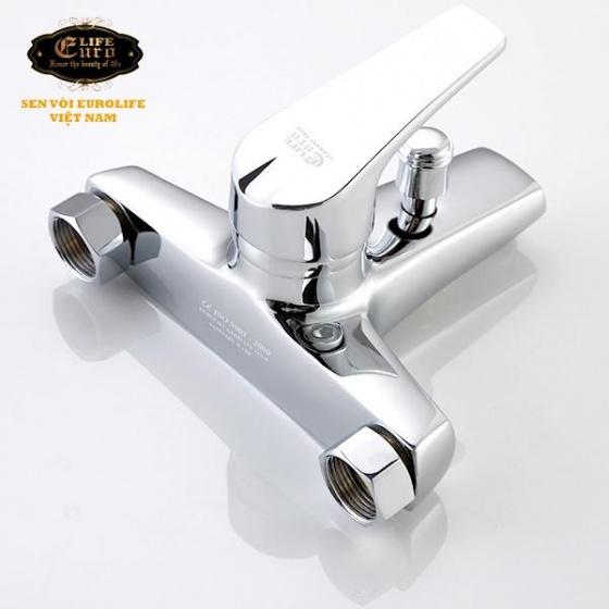 Bộ vòi sen nóng lạnh đồng mạ chrome Eurolife EL-3001 (trắng bạc)