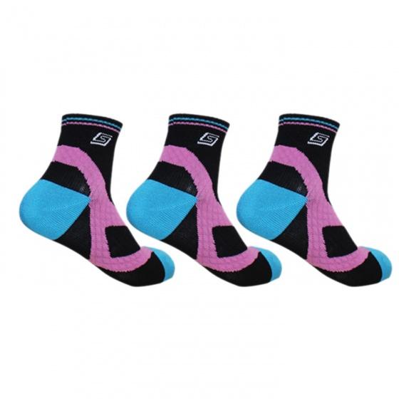 Combo 3 tất thể thao cầu lông Sunbatta SM-1230-03 đen