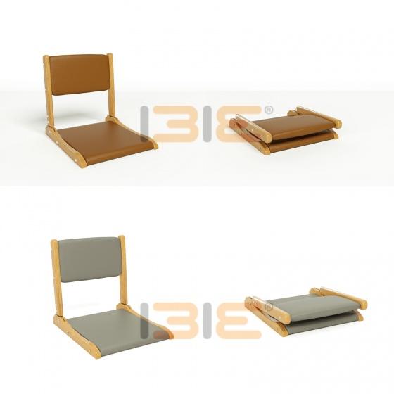 Bộ bàn bệt IBIE Rec-B đen màu cánh gián và ghế Pisu gấp gọn